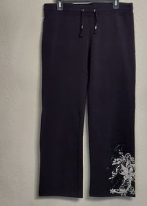 BCBG Jogging pants, black with bling at lower pant